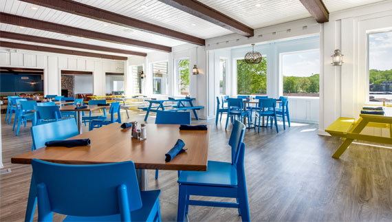 JB's Boathouse Grill Dining Room